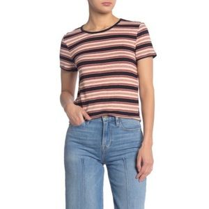 FRAME Denim True Striped Short Sleeve Tee